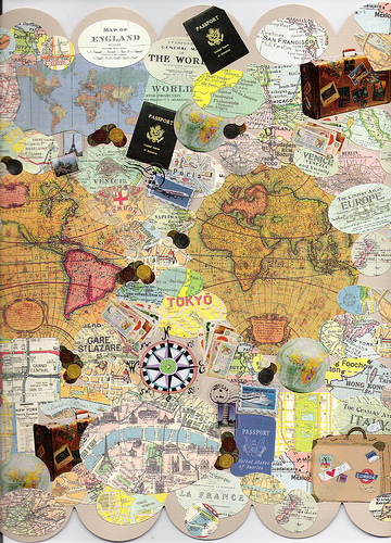 Collage de Cartes du monde
