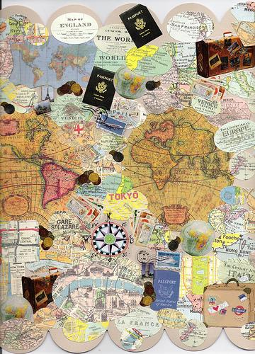 Collage de Cartes du monde