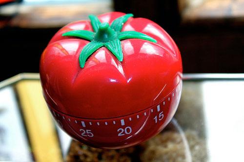 Une tomate compte à rebours